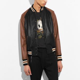 COACH Coach Leather Varsity Jacket $1,100 thestylecure.com