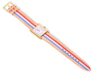 Most Wanted Design by Carlos Souza La Californienne Vintage Watch in Shell Bleu Cerise/Poppy