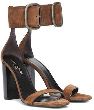 Saint Laurent Loulou suede sandals