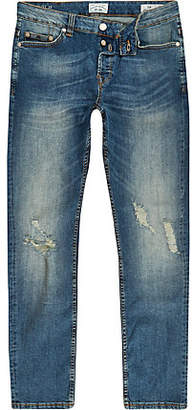 River Island Only and Sons blue slim fit ripped jeans