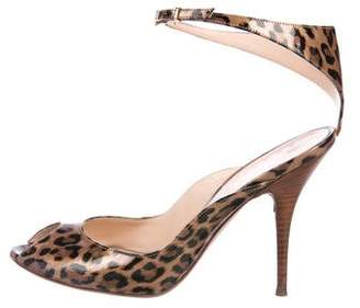 Casadei Printed Ankle Strap Sandals