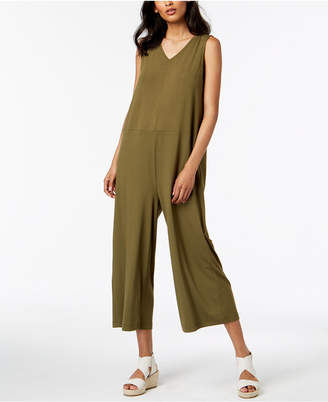 Eileen Fisher Stretch Jersey Wide-Leg Jumpsuit, Regular & Petite