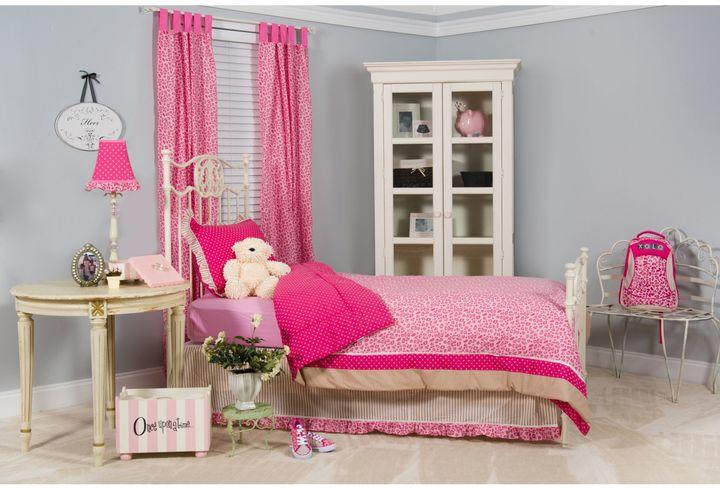 Pam Grace Creations Tabby Cheetah 4-Piece Full/Queen Bedding Set