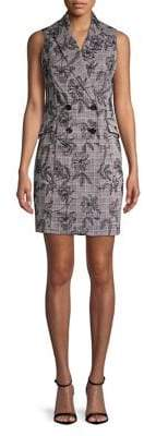 Calvin Klein Sleeveless Double Breasted Blazer Dress