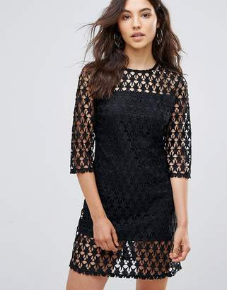 Liquorish Star Lace Shift Dress
