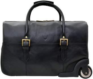 Hidesign Hidsn HIDSN Charles Leather Wheeled Travel Weekend Luggage Bag