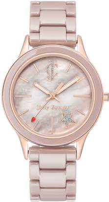 Juicy Couture Mother-of-Pearl Rosetone CeramicBracelet Watch