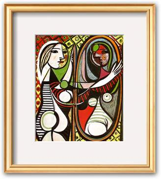 """Art.com Girl Before a Mirror, c.1932"""" Framed Art Print by Pablo Picasso"""