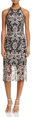 Aqua Sleeveless Lace Cocktail Dress - 100% Exclusive