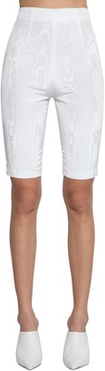 Fitted High Waist Moire Cycling Shorts