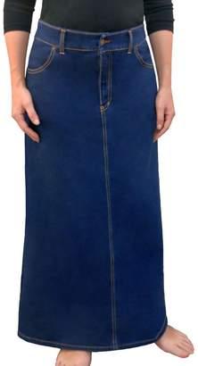 d596f6cfe599 Kosher Casual Women's Modest Long A-Line Maxi Denim Skirt - No Slits XXL