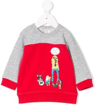 Little Marc Jacobs band print sweatshirt