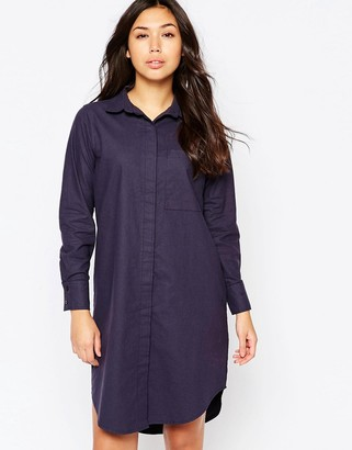 Native Youth Oversized Washed Cotton Shirt Dress $49 thestylecure.com