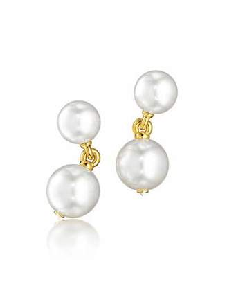 Verdura South Sea Pearl & Diamond Clip Earrings