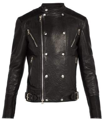 Balmain - Leather Biker Jacket - Mens - Black