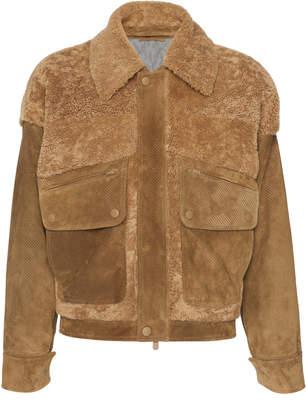 Ermenegildo Zegna Couture XXX Suede Shearling Jacket