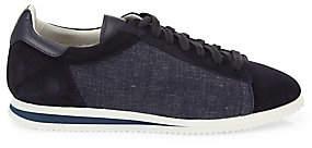 Brunello Cucinelli Men's Suede & Denim Runner Sneakers