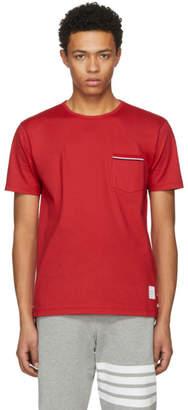 Thom Browne Red Pocket T-Shirt