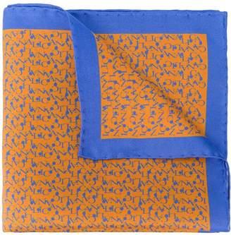 Canali logo silk handkerchief