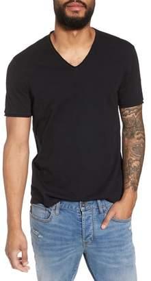 John Varvatos Slim Fit Slubbed V-Neck T-Shirt