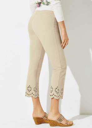 Kaleidoscope Cropped Cut Out Trousers