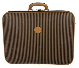 Fendi Leather-Trimmed Pequin Luggage