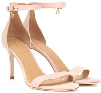 28be21051 Tory Burch Pink Leather Women s Sandals - ShopStyle