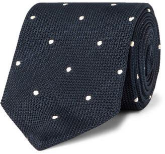 Drakes Drake's 8cm Polka-Dot Silk-Grenadine Tie