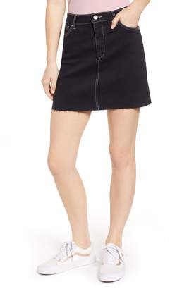 Tinsel Contrast Stitch Denim Miniskirt