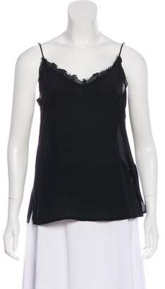 Anine Bing Silk Sleeveless Top