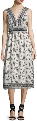 Max Studio Printed Voile A-Line Dress