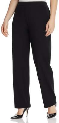 Misook Plus Straight-Leg Pants