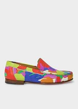 Paul Smith Women's Multi-Coloured Camouflage 'Danny' Leather Loafers