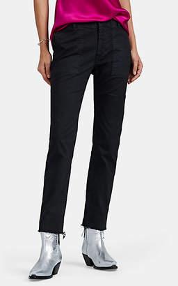 Nili Lotan Women's Jenna Cotton Slim Pants - Jet Black