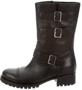 pradaPrada Mid-Calf Moto Boots