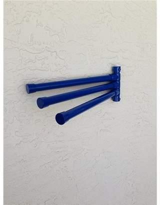 Outdoor LampWM6-BLU Wall Mount 6 Bar Towel Rack, Blue