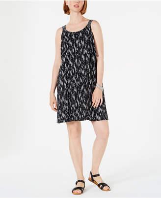 Style&Co. Style & Co Printed Flounce Tank Dress