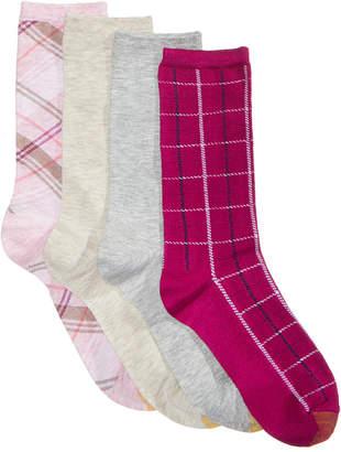 Gold Toe Women's 4-Pk. Madras & Windowpane Plaid Socks