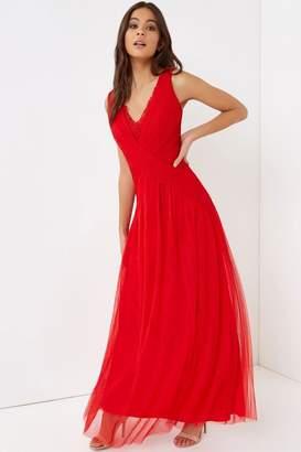 f49939e830d8 Red Lace Maxi Dress - ShopStyle UK