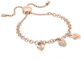 Michael Kors Logo Logo Love -Tone Slider Bracelet