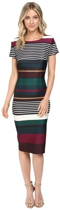 Christin Michaels Dhaani Bodycon Midi Dress $94 thestylecure.com