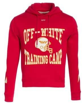 Off-White Men's Training Camp Hoodie - Red - Size XL