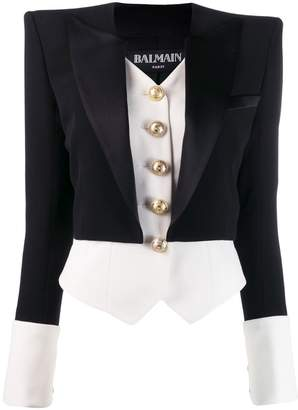 Balmain two-layer fitted blazer