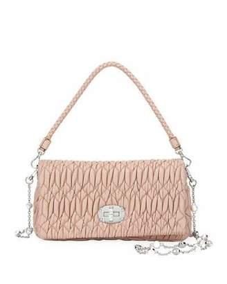 Miu Miu Small Matelassé Crossbody Bag