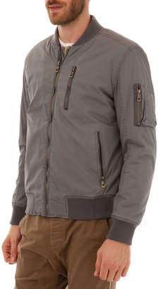 Px Clothing Men's Alec Bomber Jacket with Sherpa Lining
