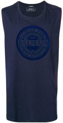 Balmain logo vest top