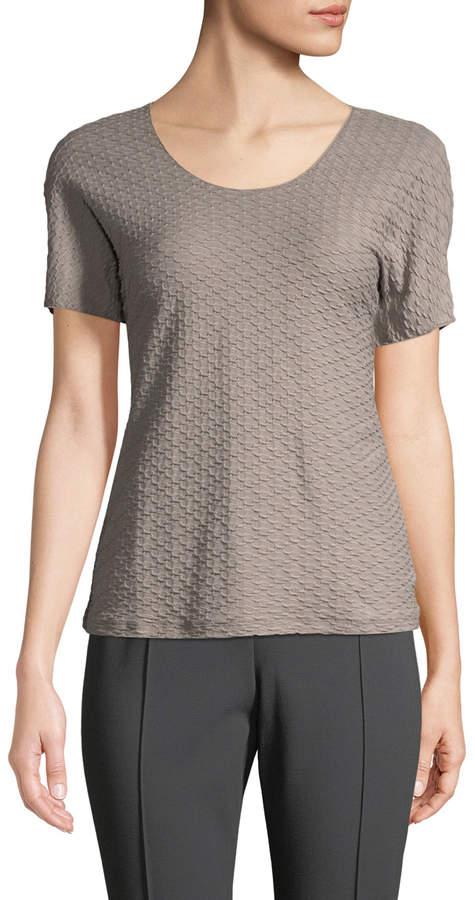 Armani Collezioni Women's Jacquard Scoop-Neck Top