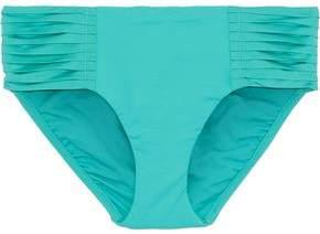 Seafolly Retro Pleated Mid-rise Bikini Briefs