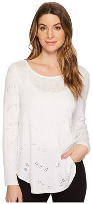 Karen Kane Embroidered Long Sleeve Tee Women's T Shirt