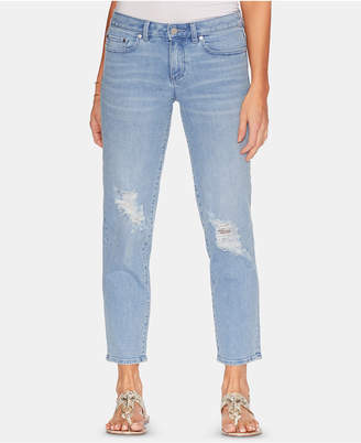 Vince Camuto Cropped Light Indigo Ripped Jeans